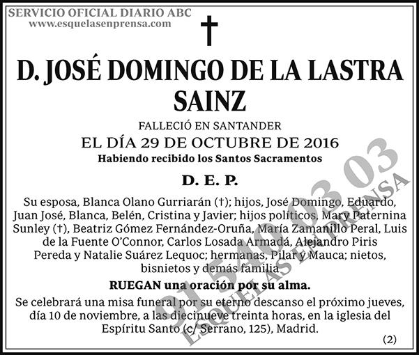 José Domingo de la Lastra Sainz